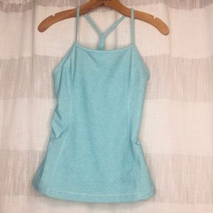 Under Armour Y tank. Blue. Size medium. Bra lined